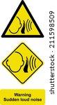 warning sudden loud noise | Shutterstock .eps vector #211598509