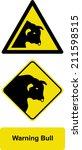warning bull | Shutterstock .eps vector #211598515