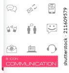vector black communication... | Shutterstock .eps vector #211609579