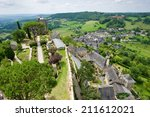 the village of turenne in the... | Shutterstock . vector #211612021