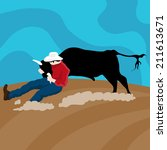 An Image Of A Cowboy Cattle...