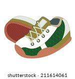 sport shoes isolated on white ...