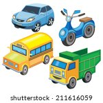 set icons of transport  vector... | Shutterstock .eps vector #211616059