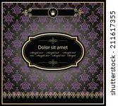 luxury template. elegant dark... | Shutterstock .eps vector #211617355