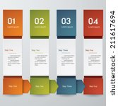 design clean number banners... | Shutterstock .eps vector #211617694