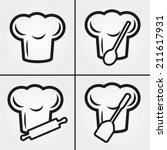 chef hat icons | Shutterstock .eps vector #211617931