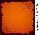 grunge halloween background... | Shutterstock .eps vector #211623124