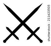 crossed swords icon on white... | Shutterstock .eps vector #211623505