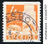 sweden   circa 1948  stamp... | Shutterstock . vector #211626757