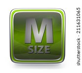 m size square icon on white... | Shutterstock . vector #211631065