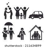 family design over white... | Shutterstock .eps vector #211634899