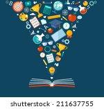 back to school flat...   Shutterstock .eps vector #211637755