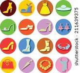 vector icons of women's...   Shutterstock .eps vector #211639375