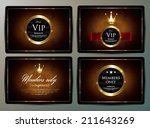vip pass collection   Shutterstock .eps vector #211643269