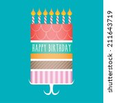 happy birthday cake | Shutterstock .eps vector #211643719