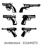 guns | Shutterstock .eps vector #211644271