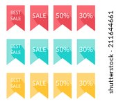 labels set. design with long... | Shutterstock .eps vector #211644661