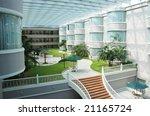 the indoor hotel lobby garden. | Shutterstock . vector #21165724