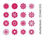 flower icon set  vector eps10. | Shutterstock .eps vector #211661101