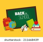 back to school design over... | Shutterstock .eps vector #211668439