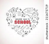 school objects in the shape of... | Shutterstock . vector #211673719