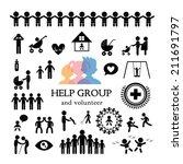 children action welfare stick... | Shutterstock .eps vector #211691797