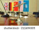 decorative scales of justice... | Shutterstock . vector #211694305