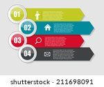 infographic templates for... | Shutterstock .eps vector #211698091