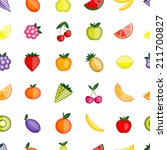 fruits seamless pattern for... | Shutterstock .eps vector #211700827