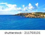 view of maltese coastline....   Shutterstock . vector #211703131