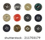set of multiple sew through... | Shutterstock . vector #211703179
