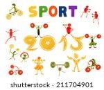 healthy eating. little funny...   Shutterstock . vector #211704901