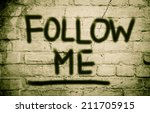 follow me concept | Shutterstock . vector #211705915