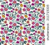 seamless vector floral... | Shutterstock .eps vector #211715335