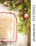 christmas background on a... | Shutterstock . vector #211723411
