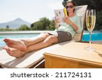 Woman Reading Book By Swimming...