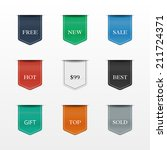 vector set of bookmarks.... | Shutterstock .eps vector #211724371