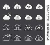 cloud computing icons set   Shutterstock .eps vector #211724401