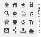 web icon set | Shutterstock .eps vector #211724419