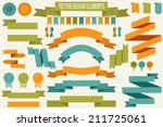 vector collection of decorative ... | Shutterstock .eps vector #211725061