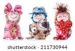 Handmade Rag Doll Isolated On...