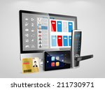 access control and management... | Shutterstock .eps vector #211730971
