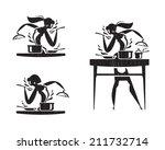 cook icons. vector format   Shutterstock .eps vector #211732714
