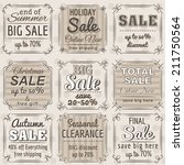 set of special sale offer... | Shutterstock .eps vector #211750564