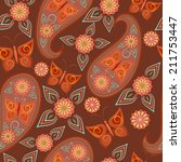 Seamless Pattern With Paisley...