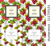wedding invitation cards with... | Shutterstock .eps vector #211755151