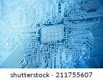 computer circuit board closeup... | Shutterstock . vector #211755607