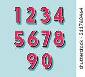retro vintage style vector... | Shutterstock .eps vector #211760464