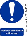 general mandatory action sign | Shutterstock .eps vector #211764925