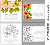 wedding invitation cards with... | Shutterstock .eps vector #211766101